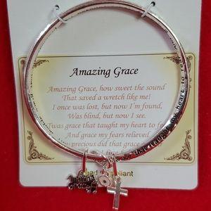 """""""Amazing Grace"""" song bangle bracelet"""